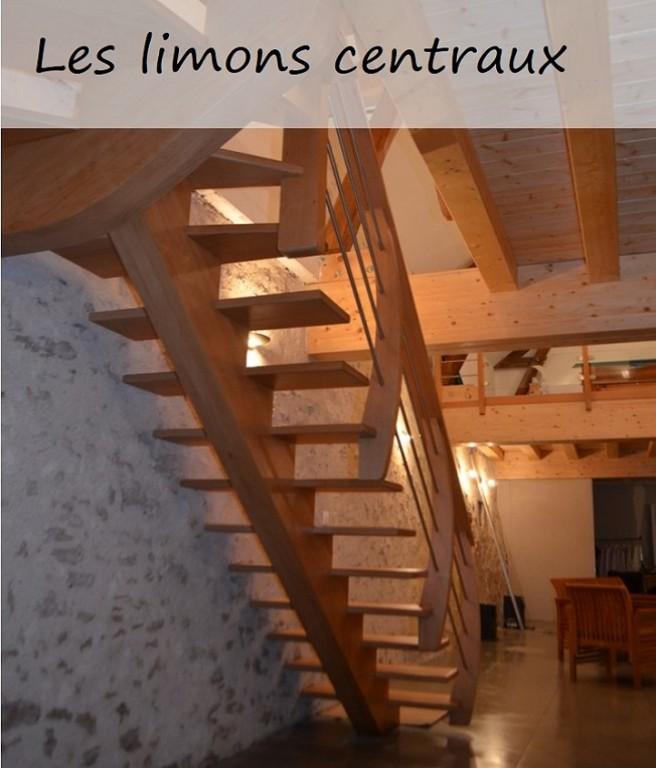 Escaliers limons centraux